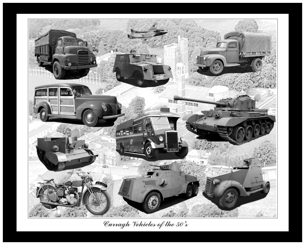 Curragh Vehicles 1950s  By John J Curran